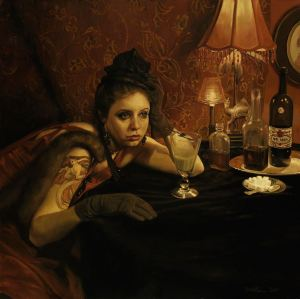 TGL1 Pamela Wilson FINE ART's The Absinth Drinker, and the Hostile Silence